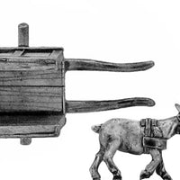 Goat cart with load and driver (28mm)