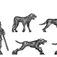 Dog Handler and dogs (28mm)