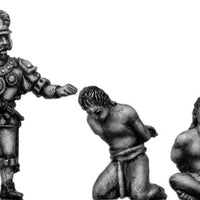 Officer with two Aztec prisoners (28mm)