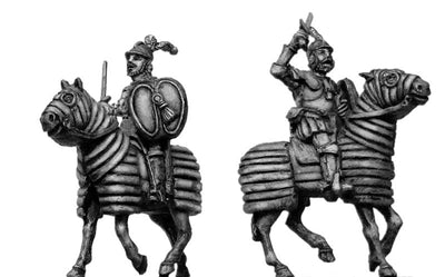 Mounted Swordsman on barded horse (28mm)