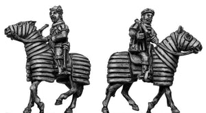 Mounted Crossbowman on barded horse (28mm)