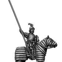 Mounted Officer on barded horse (28mm)