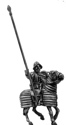 Mounted Standard bearer on barded horse (28mm)