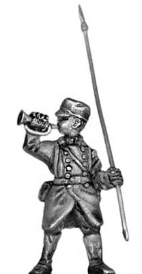 1864 bugler/guidon bearer (28mm)