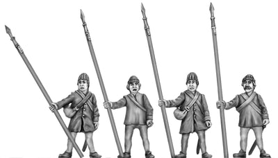 NEW - Montrose Irish pikeman at rest (28mm)