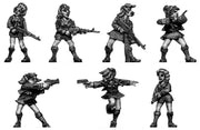 Kung Fu School Girls with guns (28mm)