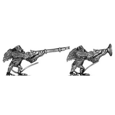 Winged, fezzed monkey with firearm, angel wings (28mm)