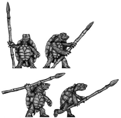 Pond Wars Terrapin with spear (28mm)