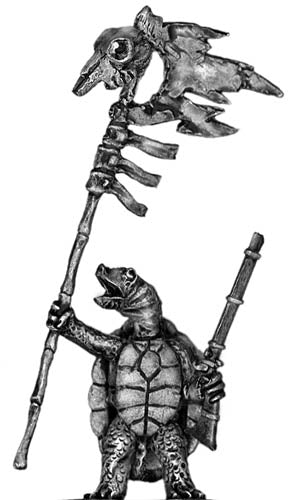 Pond Wars Turtle Standard Bearer (28mm)