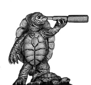 Pond Wars Turtle officer with telescope (28mm)