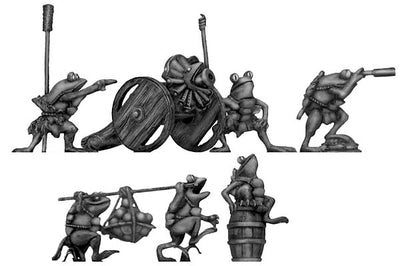 Pond Wars Frog Gun with six crew (28mm)