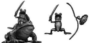 Pond Wars Frog Cavalry on toad mount with sword (28mm)