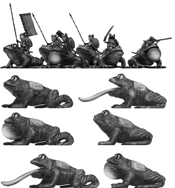 Pond Wars Frog Cavalry Squadron (28mm)