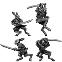 Pond Wars Rabbit Samurai with katana (28mm)