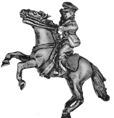Russian mounted officer in cap (28mm)
