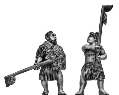 Maori with Tewhatewha (28mm)