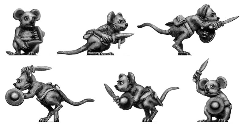 Warrior Mouse, with sword (28mm)