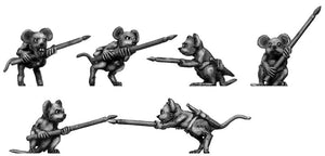 Warrior Mouse, with spear (28mm)
