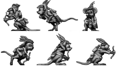 Warrior Mouse, with bow (28mm)
