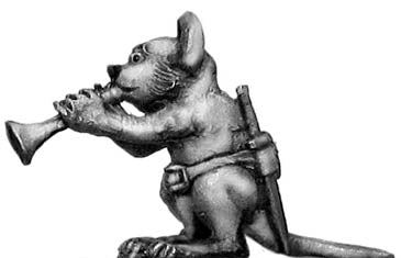 Warrior Mouse Musician (28mm)