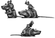 Warrior Mouse Cavalry, on rat mounts (28mm)