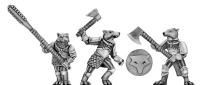 Wolf Order warrior with handweapons (28mm)