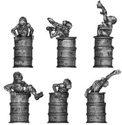 Toxic Zombies emerging from barrels (28mm)
