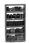 Mad Doctor reference library bookcase (28mm)