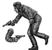 Driver running with pistol, male (28mm)