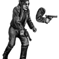 Driver running with pistol, female (28mm)