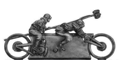 Mad Maximillian Tandem Hog and crew, grenade lance armed (28mm)