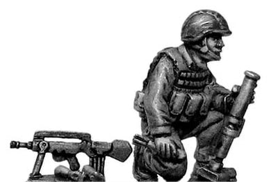 French Foreign Legionnaire in helmet with LGI 51mm grenade launcher (28mm)