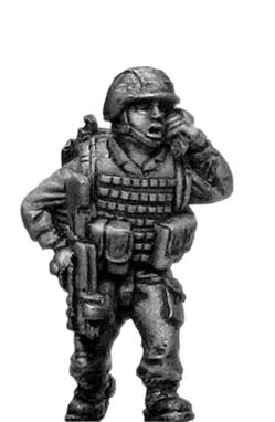 French Foreign Legionnaire in helmet with radio (28mm)