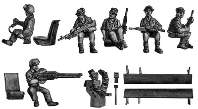 Alouette G Car helicopter crew (28mm)