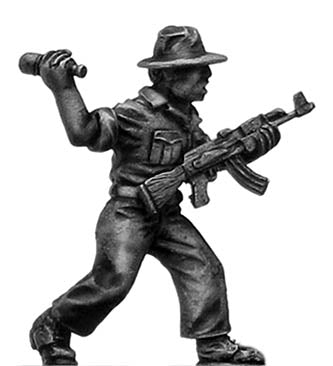 1970s ZANLA guerilla with AK47 in sunhat (28mm)
