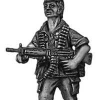 1970s Portuguese (Africa) Infantry with HK-21 squad MG (28mm)
