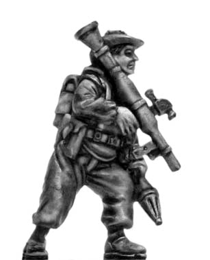 Mechanised infantry in boonie hat with RPG (28mm)