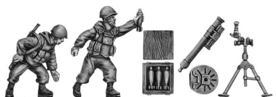 1980's Soviet Mortar with two crew (28mm)