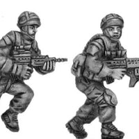 British advancing, helmet - four figure set (28mm)