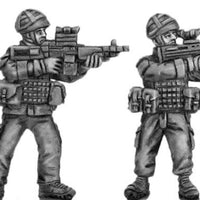 British firing, helmet - four figure set (28mm)