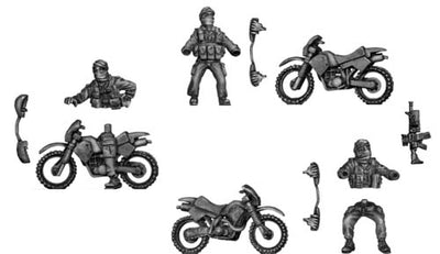 Australian Special Forces Shemagh headscarf on trail bike (28mm)