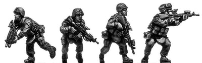 US Marine Corps Fireteam advancing (28mm)