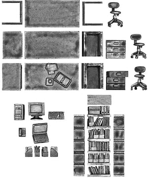 Modern Office Furniture Set (28mm)