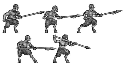 Satyrs with spears (28mm)
