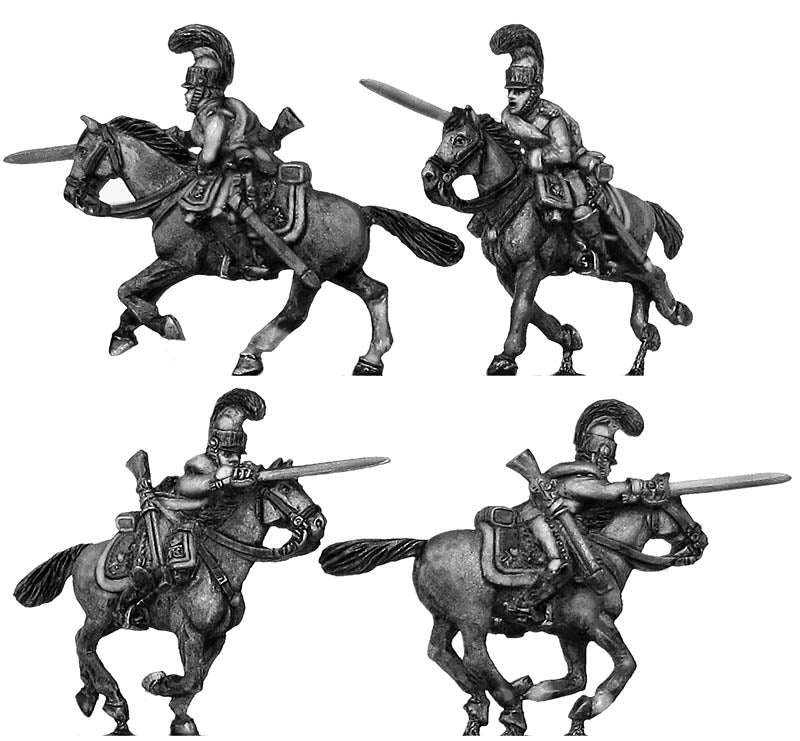 1812 Saxon Garde du Corps trooper charging (28mm)