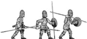 Pathlagonian infantry, wicker helmet, round shield (28mm)