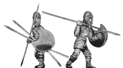 Pathlagonian infantry, wicker helmet, crescent shield (28mm)