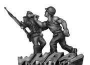 'Hard-hat applies a hard right' (28mm)