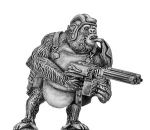 Soviet Gorilla with twin HMGs, tanker helmet and body armour (28mm)