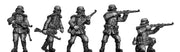 Stormtroopers in gasmasks with rifles (28mm)